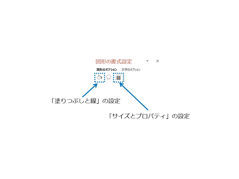 441204:「塗りつぶしと線」の設定と「サイズとプロバティ」の設定